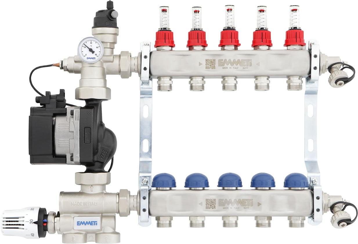 Emmeti FMU3 Underfloor Heating Manifold with Integrated Pump & Mixing Unit