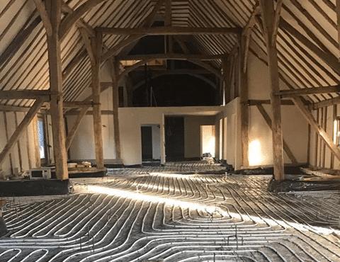 The Barn, Church Hall Farm internal